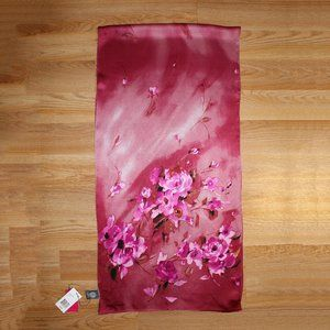 Brand New Vince Camuto Pink 100% Silk Oblong Scarf